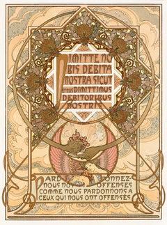 "Alphonse Mucha's Le Pater: ""Forgive Us Our Trespasses"" 1899 mandala lithograph"