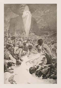 """Alphonse Mucha's Le Pater: """"Give Us This Day Our Daily Bread"""" 1899 lithograph"""