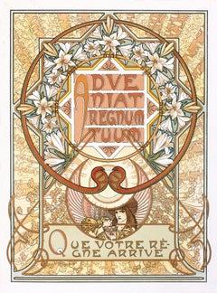 "Alphonse Mucha's Le Pater: ""Thy Kingdom Come"" 1899 mandala lithograph"