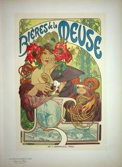 "Belle-Epoque Woman with a Beer - Lithograph (from ""Les Maîtres de l'Affiche"")"