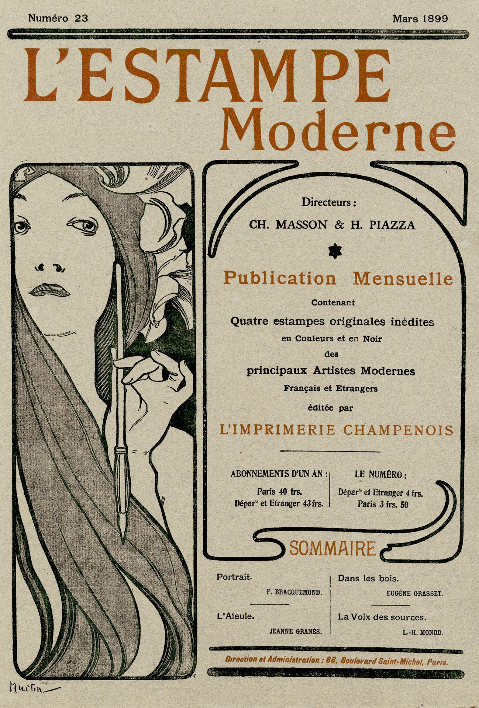 """Cover for """"L'Estampe Moderne"""""""