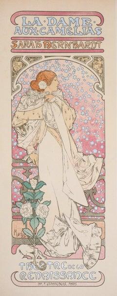 Dame aux Camélias (Sarah Bernhardt) - Lithograph (Les Maîtres de l'Affiche),1897