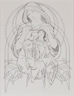 """From: Ilsee, Princess of Tripoli """"Jaufre and Eymardine,"""" Original Litho by Mucha"""