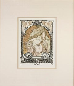 "From: Ilsée, Princess of Tripoli ""Princess Ilsee's Oasis Throne,"" Litho by Mucha"