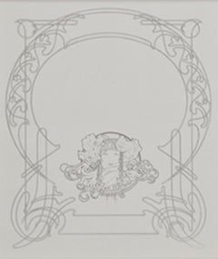 """From: Ilsee, Princess of Tripoli Recto: """"Title Page"""" Verso: """"Art Nouveau Motif"""""""