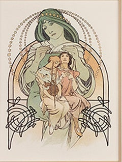 "From: Ilsée, Princesse de Tripoli ""Protection of Love,"" Original Litho by Mucha"