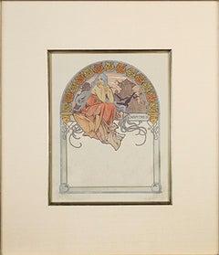 "From: Ilsée, Princesse de Tripoli Recto: ""Blaye Castle"" Verso: ""Reflecting Pool"""