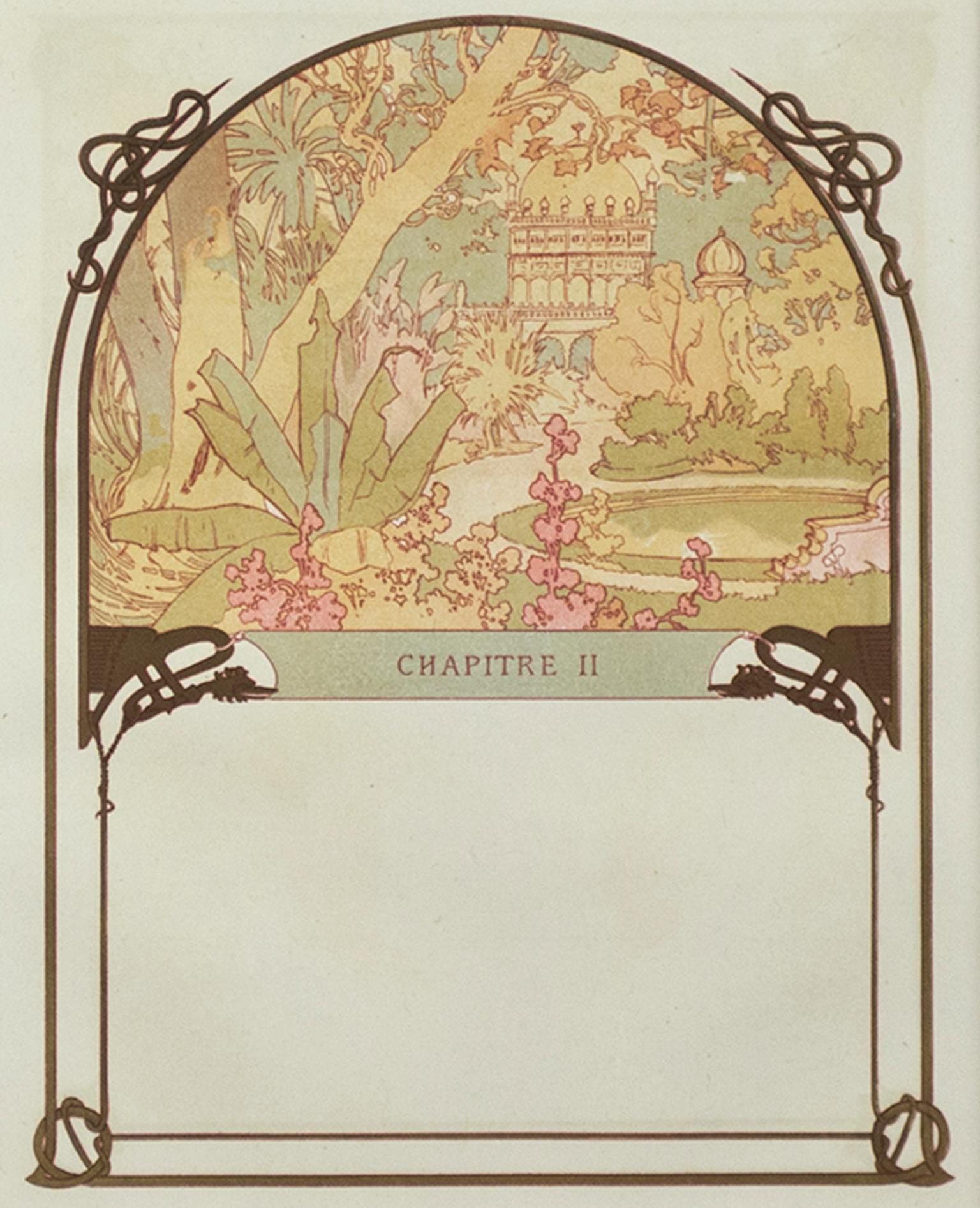"""""""Ilsee's Palace"""" & """"The Princess's Creation"""" Color Lithograph by Alphonse Mucha"""