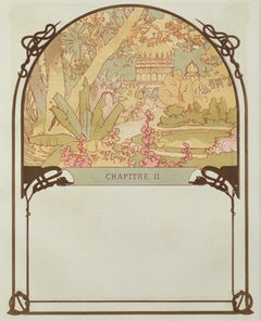 """Ilsee's Palace"" & ""The Princess's Creation"" lithograph by Alphonse Mucha"