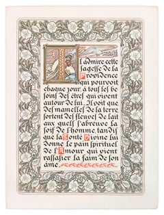 "Le Pater: ""Give Us This Day Our Daily Bread"" 1899 illuminated manuscript"