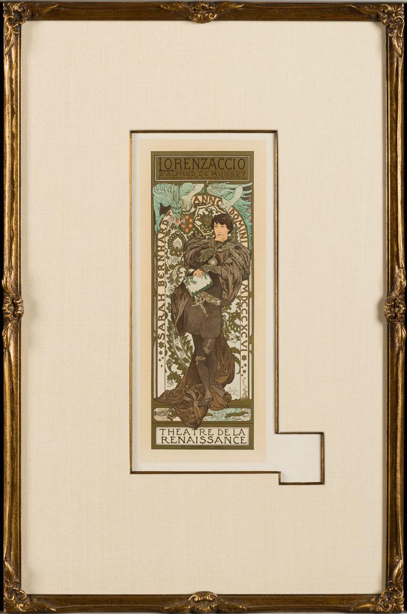 """""""Lorenzaccio"""" by Alphonse Mucha from Les Maitres de l'Affiche"""