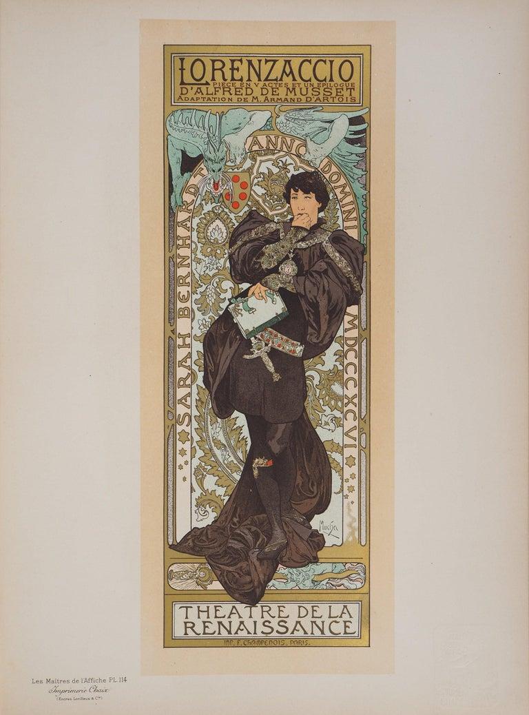 Lorenzaccio (Sarah Bernhardt) - Lithograph (Les Maîtres de l'Affiche), 1897 - Print by Alphonse Mucha