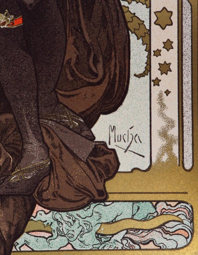 Lorenzaccio (Sarah Bernhardt) - Lithograph (Les Maîtres de l'Affiche), 1897 - Art Nouveau Print by Alphonse Mucha