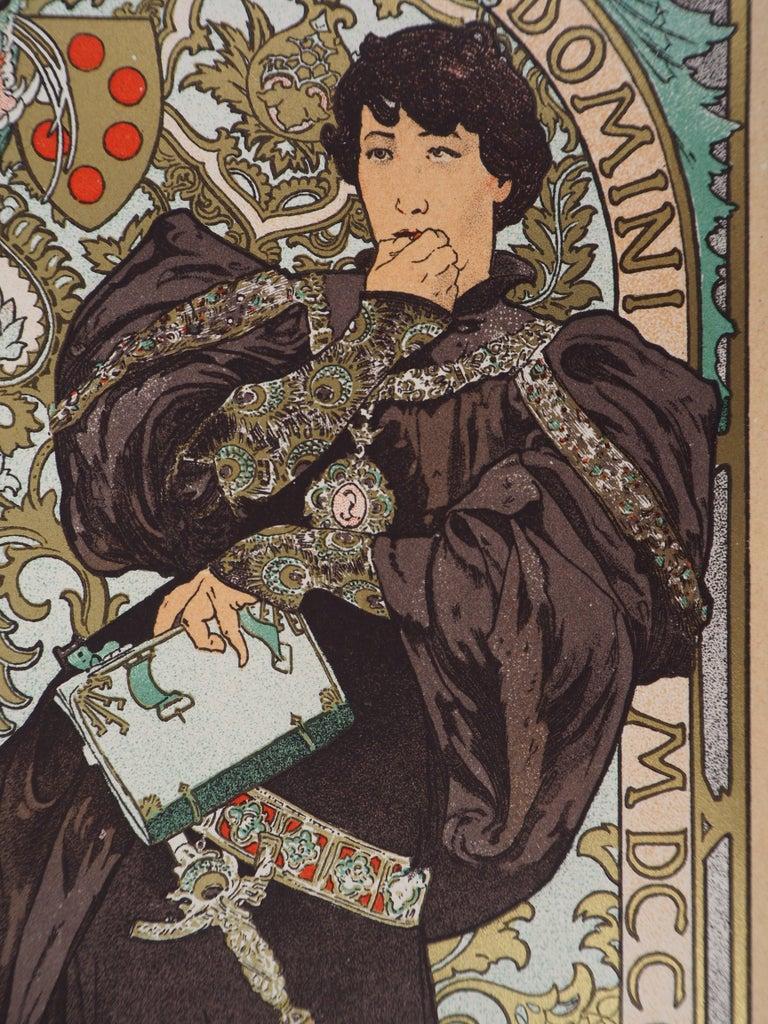 Lorenzaccio (Sarah Bernhardt) - Lithograph (Les Maîtres de l'Affiche), 1897 For Sale 1