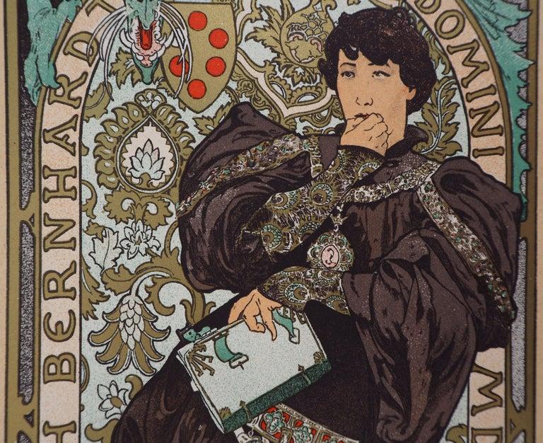 Lorenzaccio (Sarah Bernhardt) - Lithograph (Les Maîtres de l'Affiche), 1897 For Sale 2