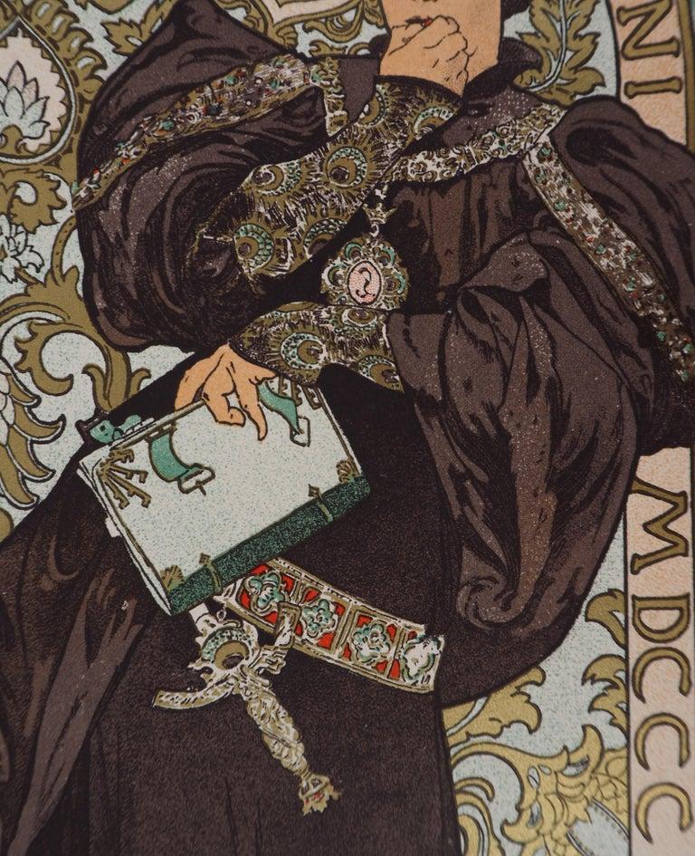 Lorenzaccio (Sarah Bernhardt) - Lithograph (Les Maîtres de l'Affiche), 1897 For Sale 3