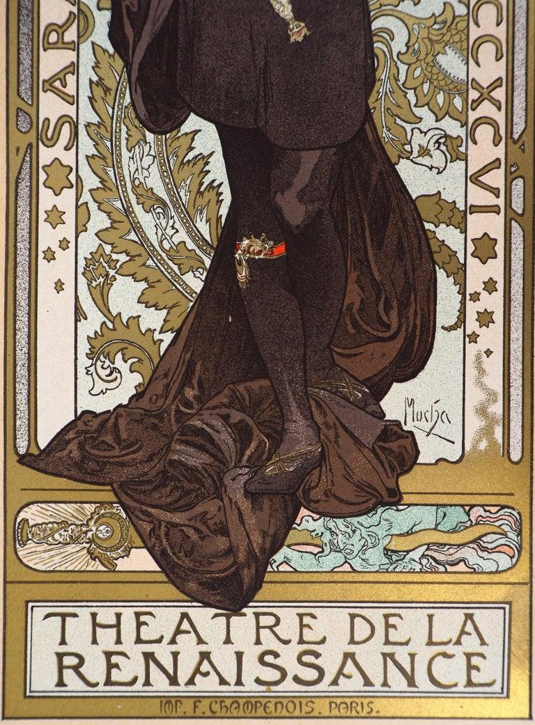 Lorenzaccio (Sarah Bernhardt) - Lithograph (Les Maîtres de l'Affiche), 1897 For Sale 4