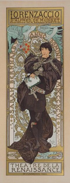 Lorenzaccio (Sarah Bernhardt) - Lithograph (Les Maîtres de l'Affiche), 1897