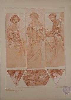 The Actresses - Lithograph 1902