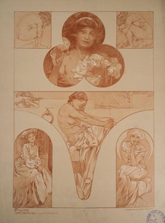 The models - Lithograph 1902