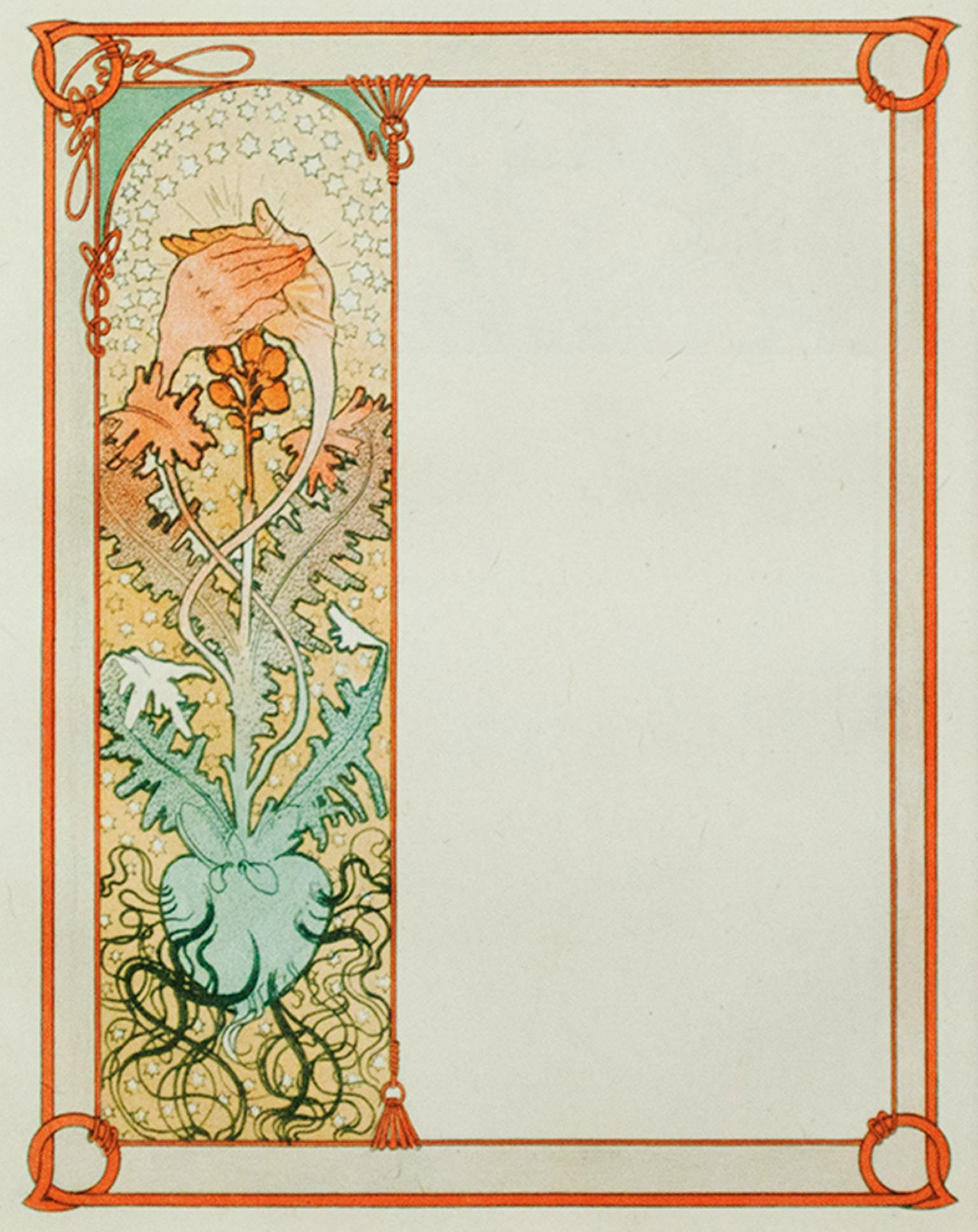 """""""The Prince Father's Heart"""" and """"Jaufre's Feared Affection"""" by Alphonse Mucha"""