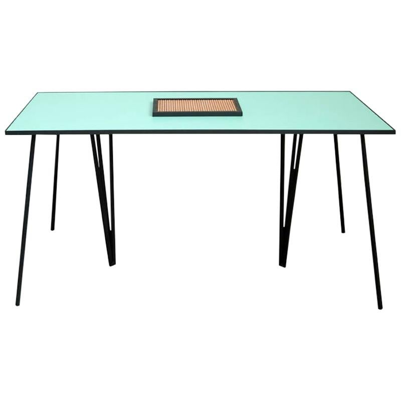 ALPINA Contemporary Dining Table in Steel and Formica by Ries