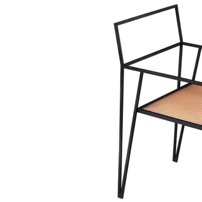Argentine ALPINA Minimalist Steel Chair by Ries For Sale