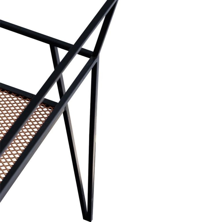 Plated ALPINA Minimalist Steel Chair by Ries For Sale