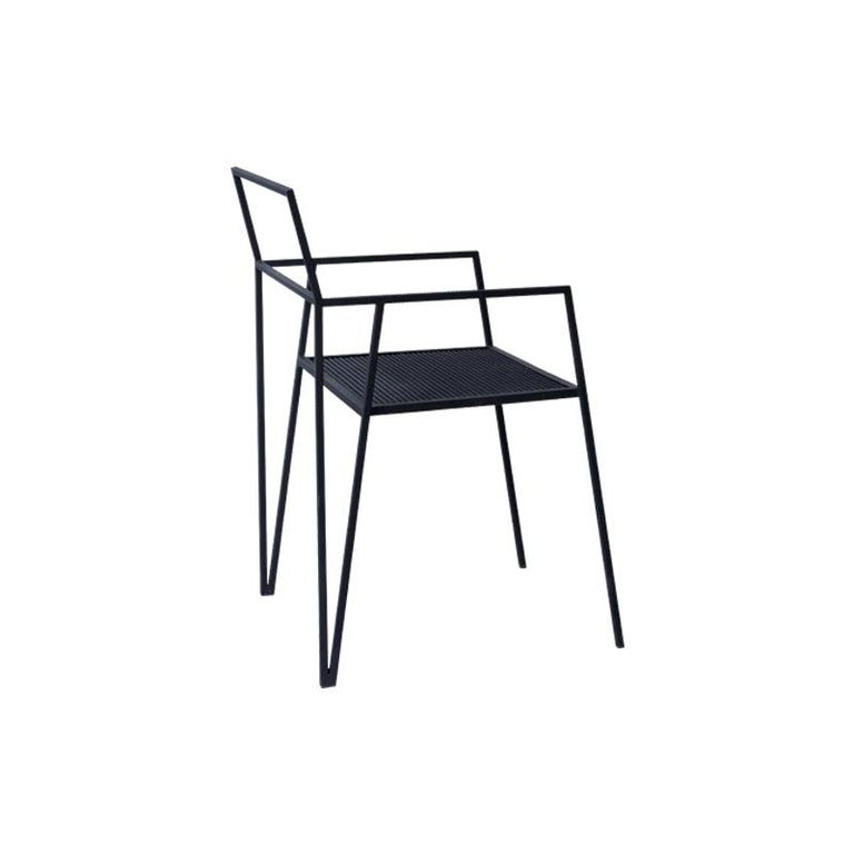 Contemporary ALPINA Minimalist Steel Chair by Ries For Sale