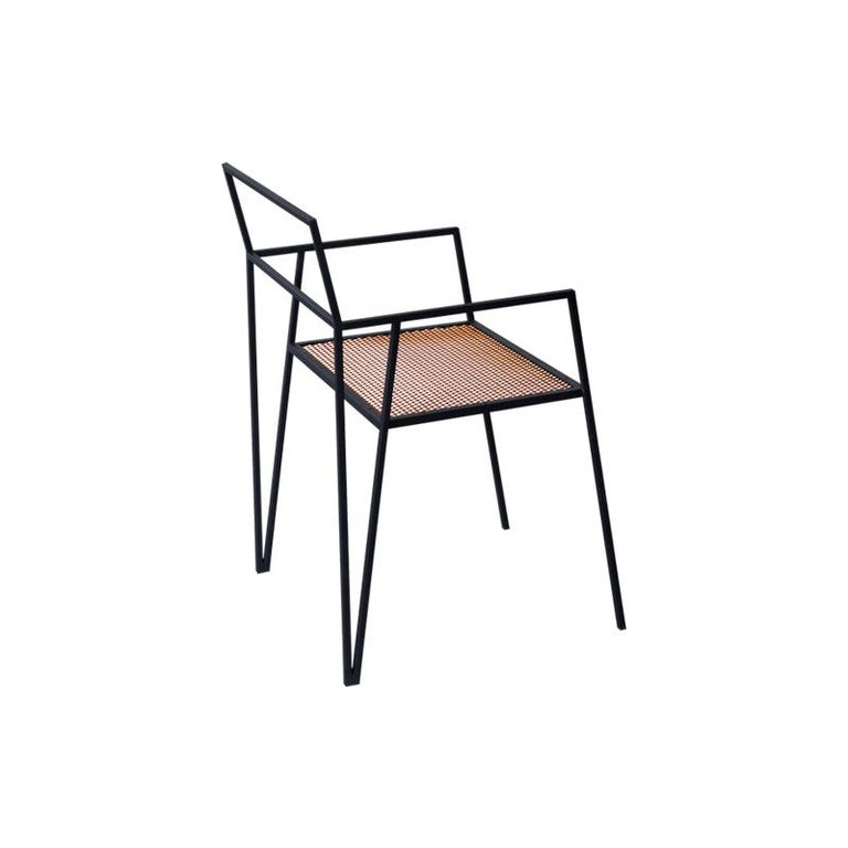 ALPINA Minimalist Steel Chair by Ries For Sale