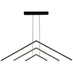 Alpine APC60, Black Contemporary Geometric Modern Led Chandelier Light Fixture