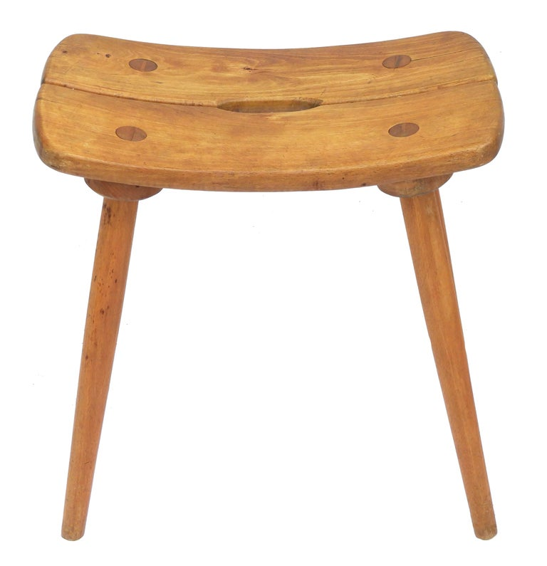 Alpine Six Dining Chairs Midcentury Two Carvers Four Chairs and a Stool In Good Condition In , FR