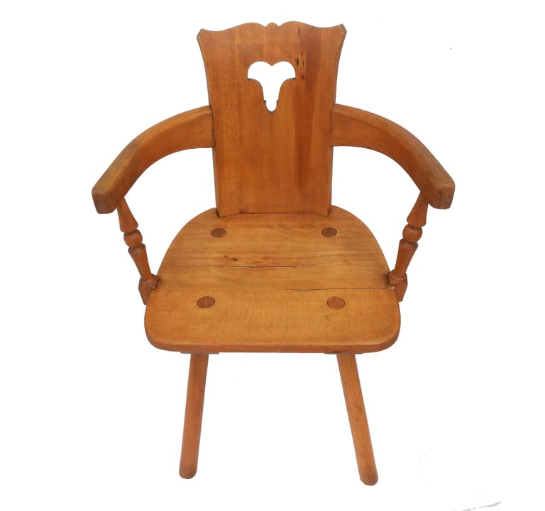 Alpine Six Dining Chairs Midcentury Two Carvers Four Chairs and a Stool 1
