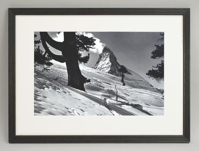 Alpine Ski Photograph, 'Matterhorn' Taken from Original 1930s Photograph For Sale 4