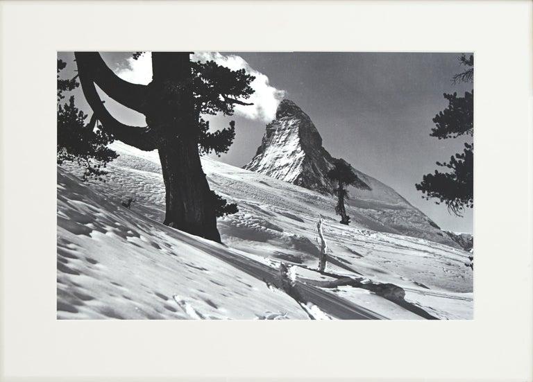 Sporting Art Alpine Ski Photograph, 'Matterhorn' Taken from Original 1930s Photograph For Sale