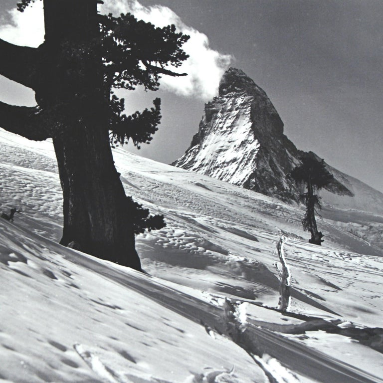 English Alpine Ski Photograph, 'Matterhorn' Taken from Original 1930s Photograph For Sale