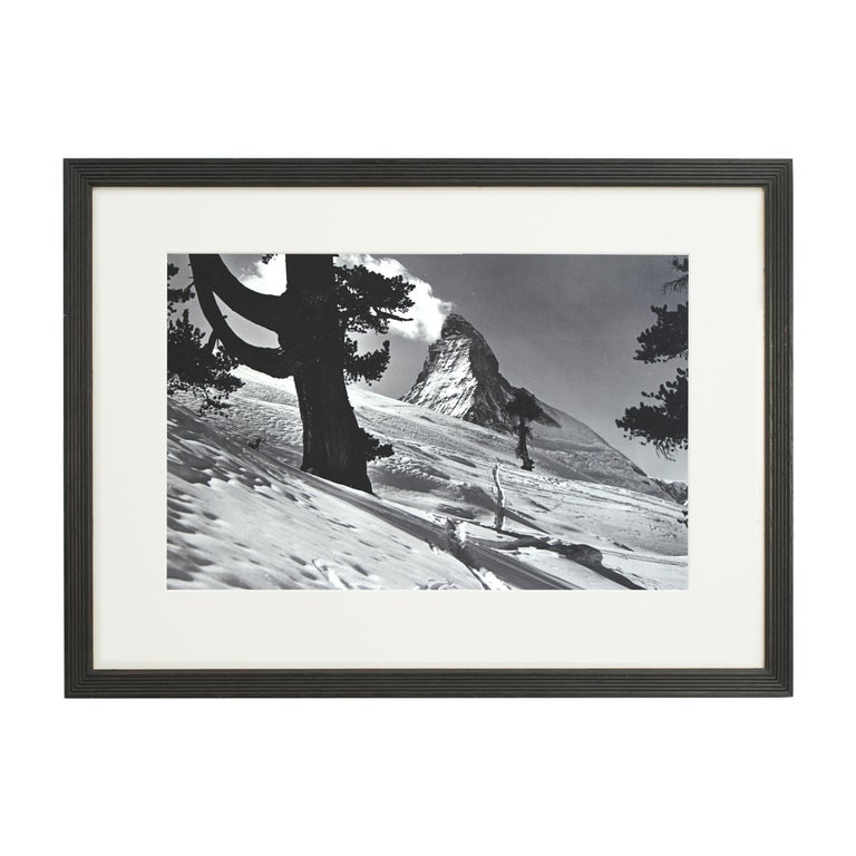 Alpine Ski Photograph, 'Matterhorn' Taken from Original 1930s Photograph For Sale 1