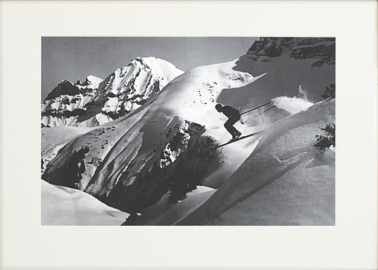 Sporting Art Alpine Ski Photograph, 'THE JUMP' Taken from 1930s Original For Sale