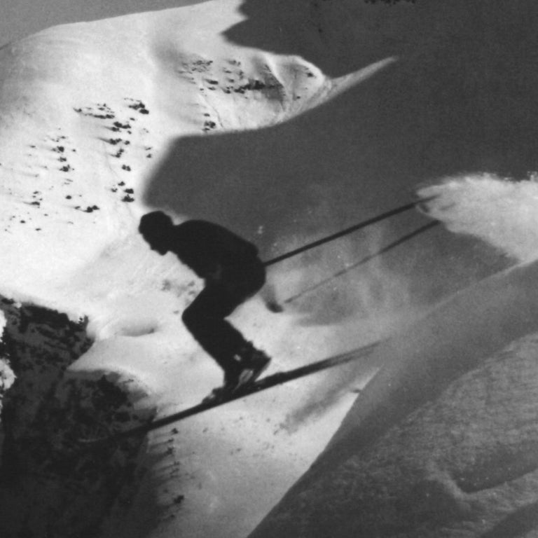 English Alpine Ski Photograph, 'THE JUMP' Taken from 1930s Original For Sale