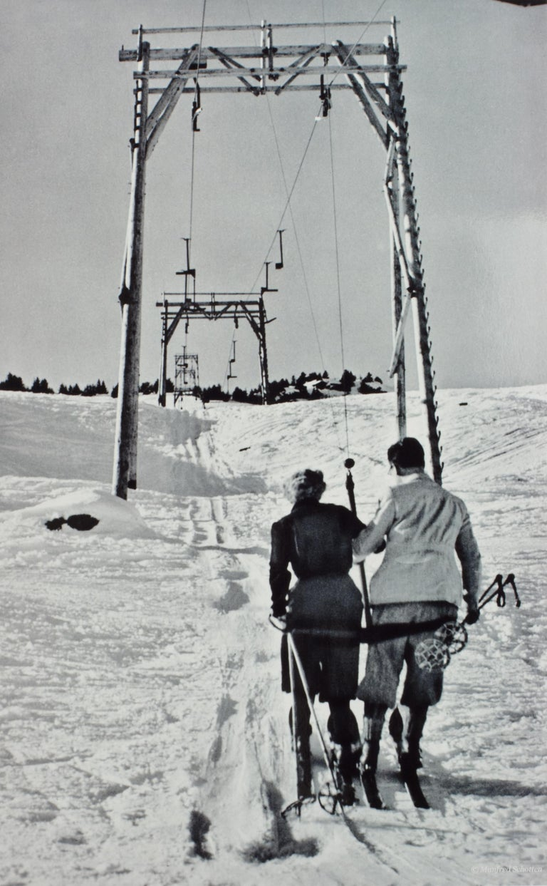 Vintage, antique Alpine Ski photograph.