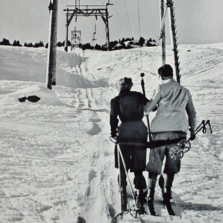 English Alpine Ski Photograph, 'THE LIFT' Taken from 1930s Original For Sale