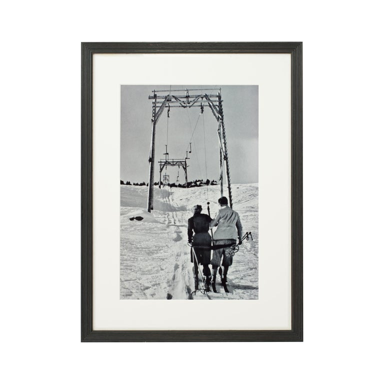 Alpine Ski Photograph, 'THE LIFT' Taken from 1930s Original For Sale 1