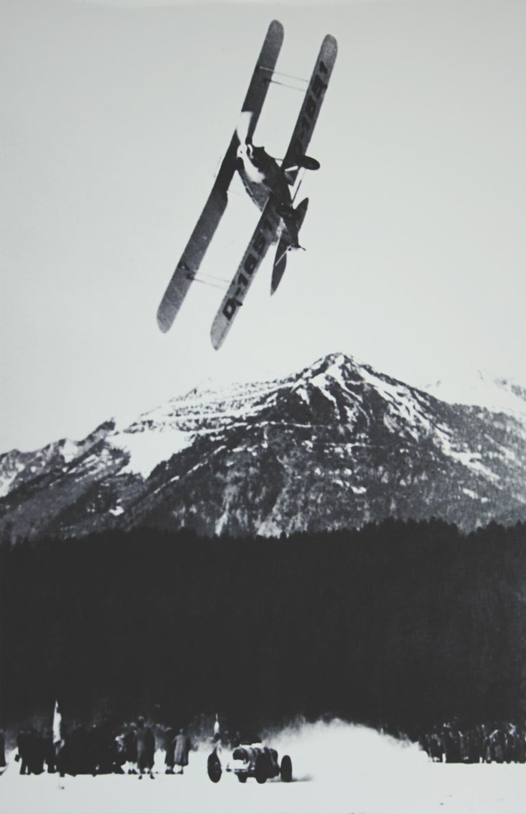 Alpine Ski photograph. 'The Race', a new mounted black and white photographic image after an original 1930s photograph. Black & white alpine photos are the perfect addition to any home or ski lodge, so please do check out our other ski photos and