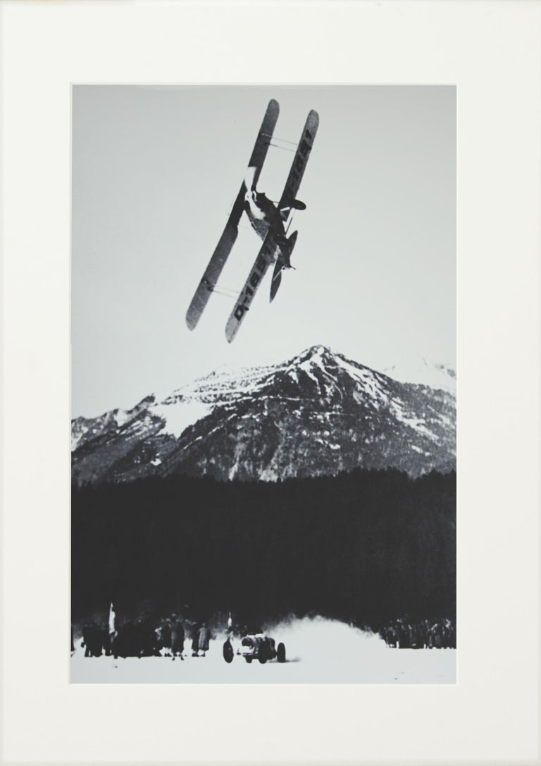 Sporting Art Alpine Ski Photograph, 'The Race' Taken from Original 1930s Photograph For Sale