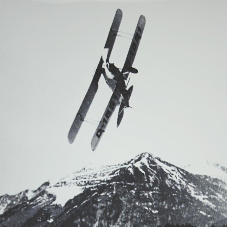 British Alpine Ski Photograph, 'The Race' Taken from Original 1930s Photograph For Sale