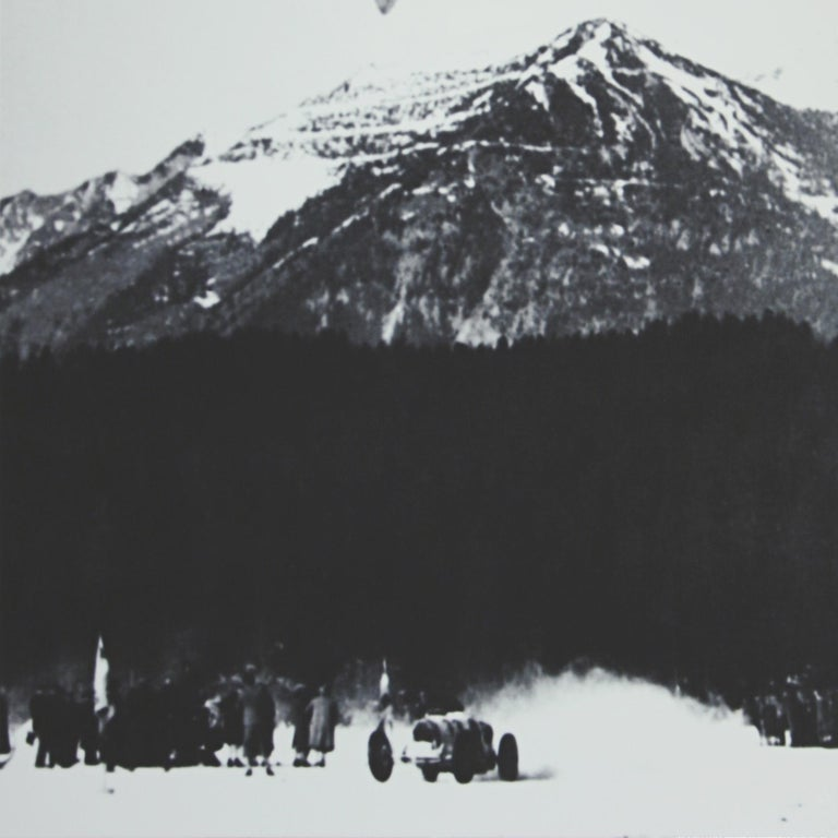 Alpine Ski Photograph, 'The Race' Taken from Original 1930s Photograph In New Condition For Sale In Oxfordshire, GB