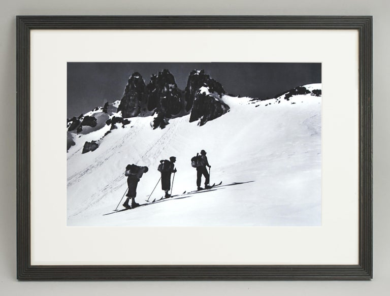 Alpine Ski Photograph, 'Three Peaks' Taken from 1930s Original For Sale 4