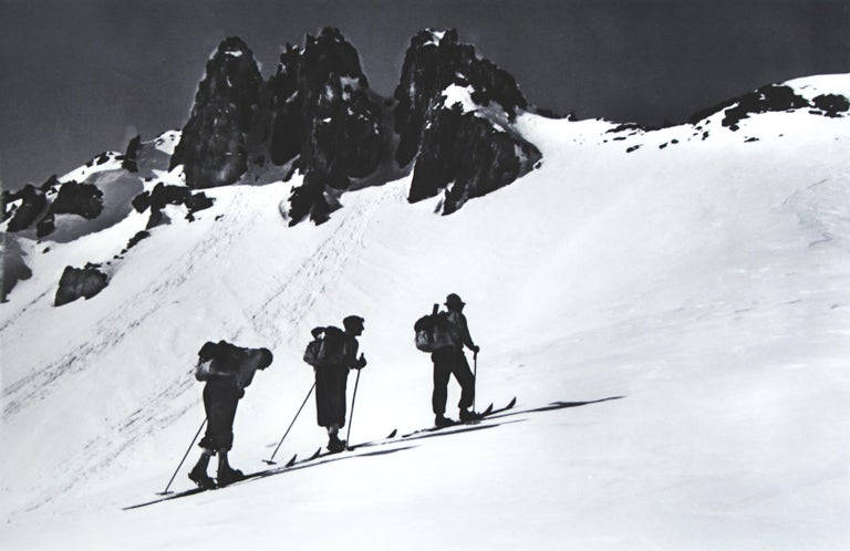 Sporting Art Alpine Ski Photograph, 'Three Peaks' Taken from 1930s Original For Sale