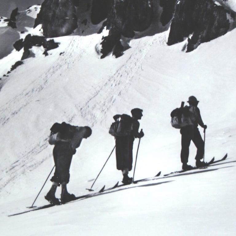 English Alpine Ski Photograph, 'Three Peaks' Taken from 1930s Original For Sale