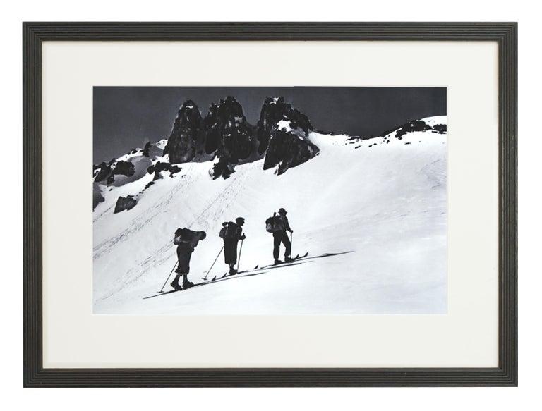 Alpine Ski Photograph, 'Three Peaks' Taken from 1930s Original For Sale 1